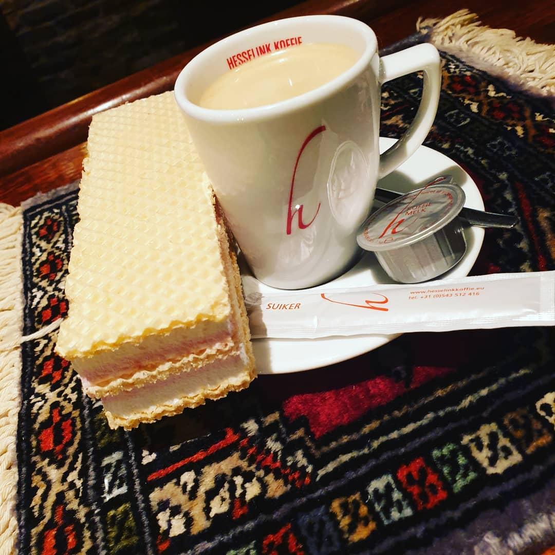 Koffie met een koekje