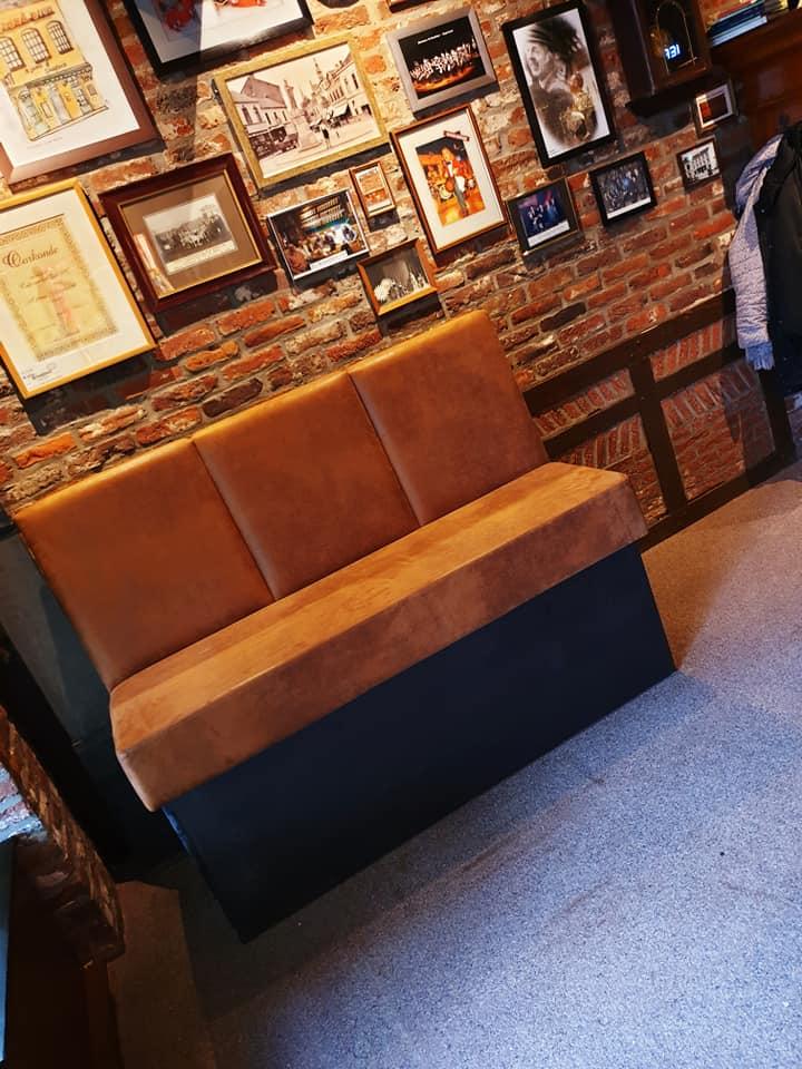 Onze nieuwe zitbank