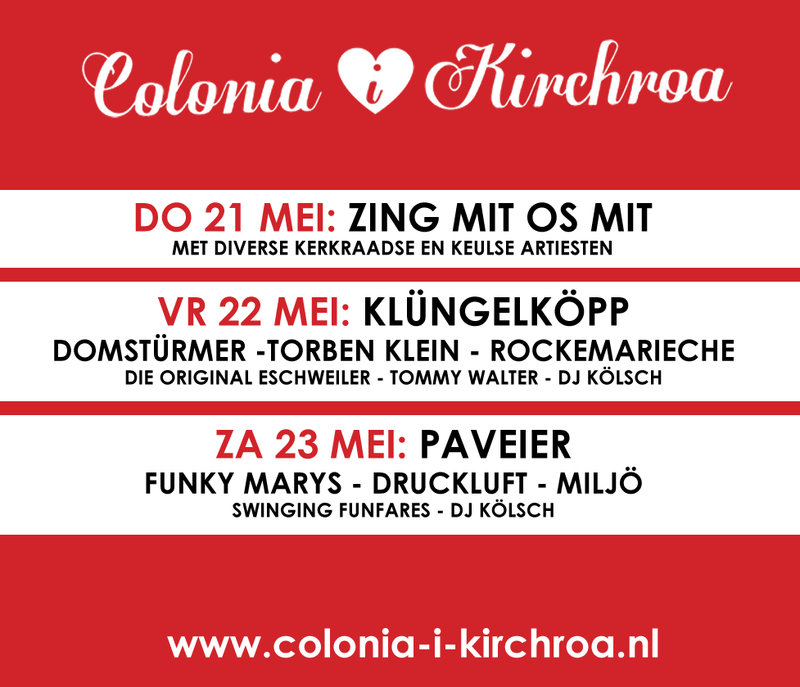 Colonia i Kirchroa evenement op de Markt